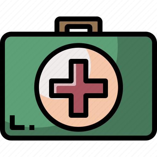 aid, emergency, first, healthcare, hospital, kit, medical icon