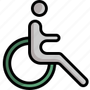 disabled, handicap, healthcare, medical, wheelchair icon