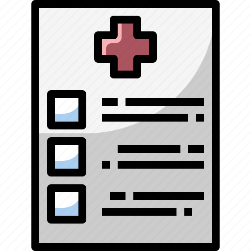 application, clipboard, document, healthcare, information, medical icon