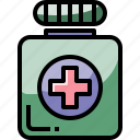 bottle, healthcare, medical, medicine, pill icon