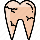 dentist, healthcare, medical, tooth, toothache icon