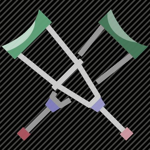 crutches, handical, healthcare, injury, medical icon