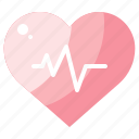 healthcare, heart, heartbeat, medical, pulse, rate icon