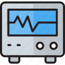 ecg, ekg, electrocardiogram, medical, monitor, pulse, rate icon