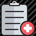anecdote, diagnostics, document, file, list, medical, symptom