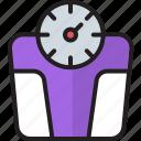 analog weight machine, measure, tool, weight machine, weight measurement, weight scale icon