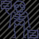 anatomy, bone, skeleton, skull icon
