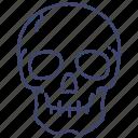 anatomy, death, skeleton, skull icon