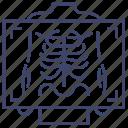 medical, ray, x, xray icon