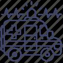 ambulance, emergency, hospital, vehicle icon