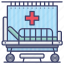 bed, hospital, patient, ward icon