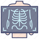 medical, ray, x, xray icon