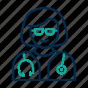 doctor, female, hospital, medical icon