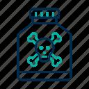 danger, poison, skull