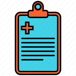 clipboard, doc, document, medical icon