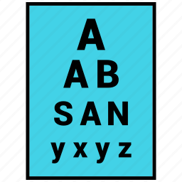 chart, eyetest, optometrist, sight, vision icon