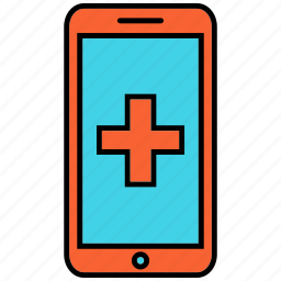 healthcare, medical, medical sign, mobile icon