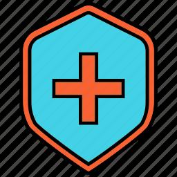 healthcare, medical care, medical shield, shield icon