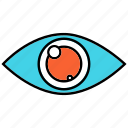 eye, red eye, view, views icon
