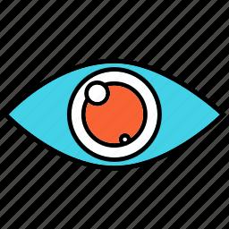 eye, red eye, view, views icon