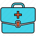 first aid, first aid bag, first aid kit, medical icon