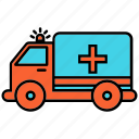 ambulance, transportation, van icon