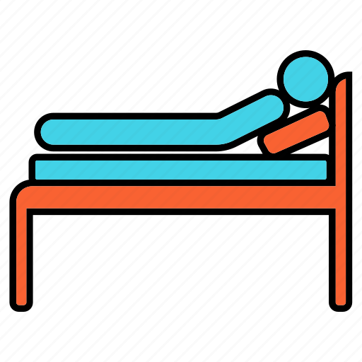hospital, patient, patient bed, stretcher icon
