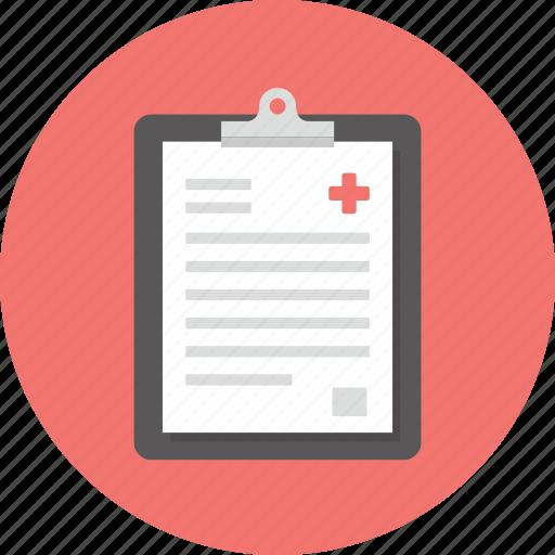 diagnosis, document, healthcare, hospital, medical, medicine, report icon