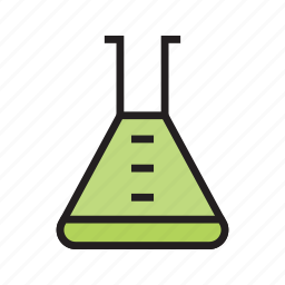 chemistry, erlenmeyer, experiment, laboratory, medical, medicine icon