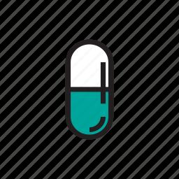 capsule, cure, drink, health, medical, medicine, sick icon