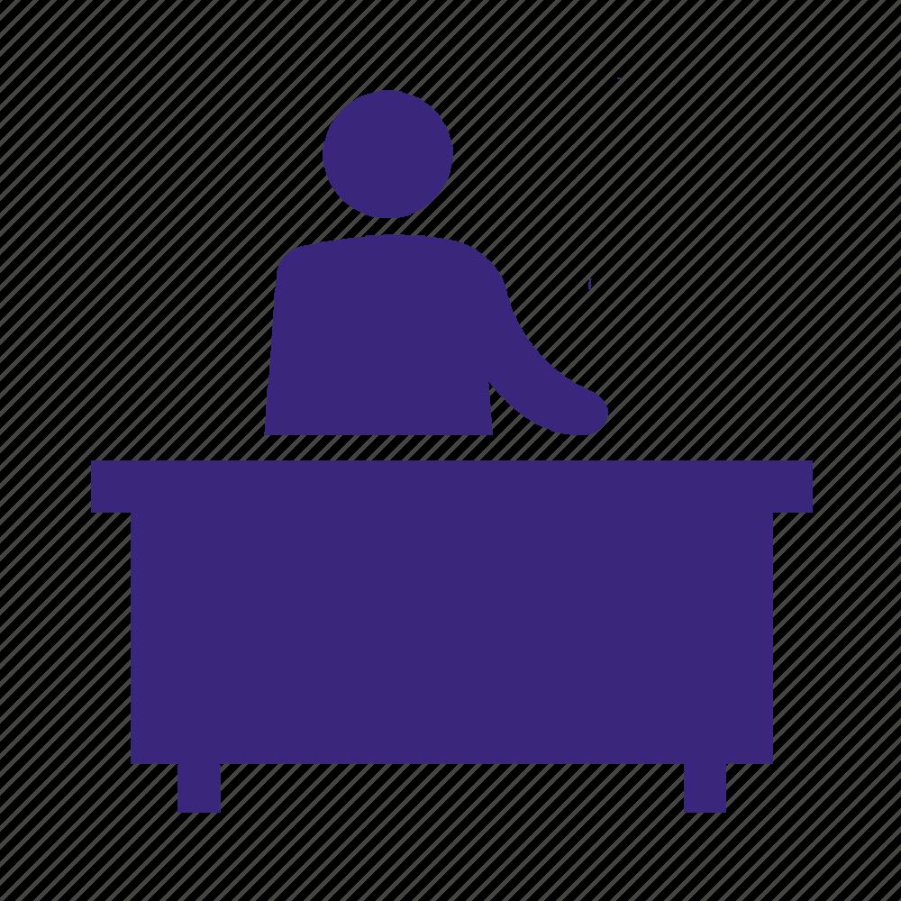admin, administrative, office, reception icon