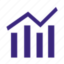 financial, graph, market, stock, success icon