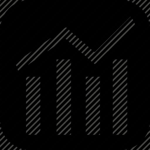 financial, graph, success icon