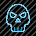 bone, halloween, skeleton, skull icon