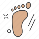 aid, care, foot, health, medical, print, science icon