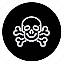 drug, healthcare, hospital, medicine, pharmaceutical, skull, skull with bones icon