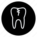 damage tooth, drug, healthcare, hospital, medication, medicine, pharmaceutical icon
