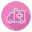 ambulance, drug, healthcare, hospital, medication, medicine, pharmaceutical icon