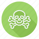 drug, healthcare, hospital, medication, medicine, pharmaceutical, skull with bones icon