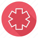 asterisk, drug, healthcare, hospital, medication, medicine, pharmaceutical icon