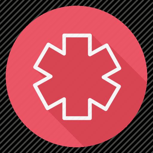 asterisk, drug, healthcare, hospital, medication, medicine, pharmaceutical icon