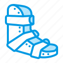 broken, leg, medical, orthopedics, splint icon