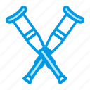 crutches, equipment, medical, orthopedics icon