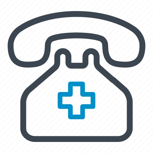 emergency, emergency calls, health care, health clinic, hospital, phone call icon