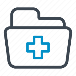 health, medical, medical folder, medicine, storage icon