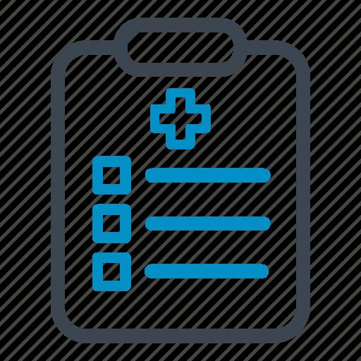 blipboard, checkmark, medical, plan, prescription icon