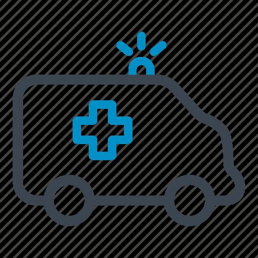 ambulance, emergency, medical, transport, vehicle icon