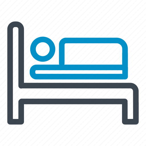 bed, health clinic, hospital, medical, patient icon