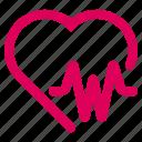heart, life, medical, pulse icon