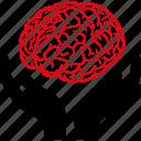 psychology, anatomy, brain, hands, intellect, intelligence, mind icon